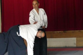 Aikido au cours d'un stage d'un stage d'été