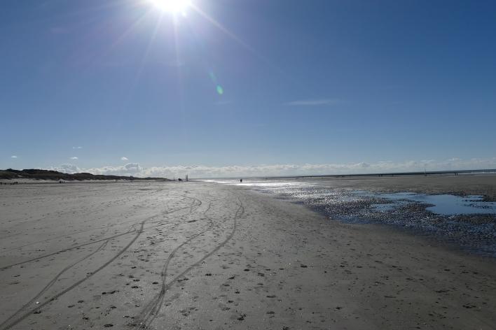 La plage de Quend sous le soleil